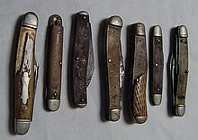 7 Vintage Pocket Knives