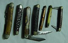6 Vintage Pocket Knives
