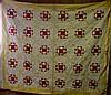Penn 1900 Red, White & Gold Quilt