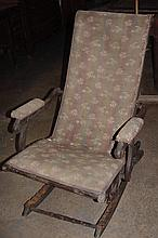 1880s Folding Rocking Chair