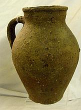 Handmade Low Fired Pottery Jug w/Handle