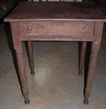 East Tenn 1840s Walnut 1 Drawer Table