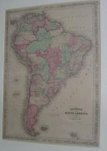 1863 Johnson's South America Map