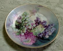 Hand Painted Grape 1890s Plate