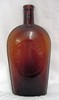 John F. Horne Knoxville Tenn Amber Strap Sided Flask
