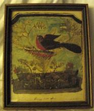 Harrys Little Bird Primitive Folk Art Painting