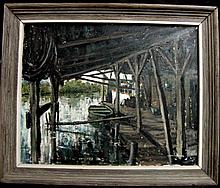 Bayou Sara  Painting Jim Gray 1965 Tenn & Maine Artist