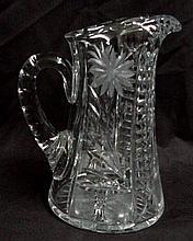 Brilliant Period Cut Glass Water Pitcher
