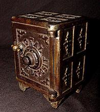 Ideal Safe Deposit Cast Iron Bank 1890s