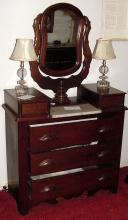 1870s Walnut Wishbone Dresser Fairfax