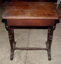 Walnut 19th Cent. 1 Drawer Stand