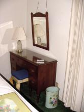 1950s Walnut Vanity & Matching Mirror