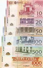 Macau 2008, banknotes set