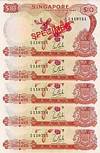 Singapore 'orchid' $10 banknotes
