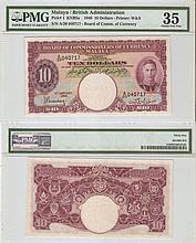 Malaya 1940, $10 banknote