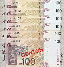 Malaysia (2001) Rm100 banknotes