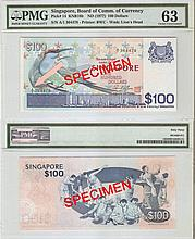 Singapore 'Bird' $100 banknote
