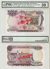 Singapore 'orchid' $1000 banknote