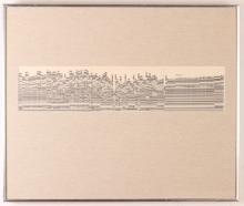 Harry Schwalb 1968 Computerized Drawing of NYC