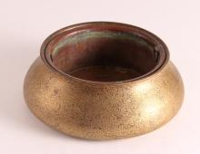 Tiffany Studios bronze planter with removable copper liner
