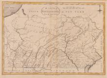 State of Pennsylvania Map 1796  from the latest Surveys. D. Martin sct. Publish'd by J. Reid, New York.