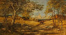 Charles Pitcher Autumn Horseback Riding Scene Painting