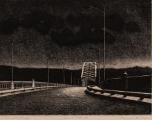 Raymond DeFazio McKee's Rocks Bridge etching