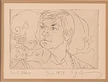 Henry Koerner etching of