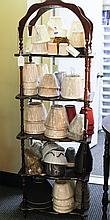 Five Shelf Mahogany Etagere