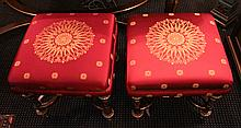 Pair French Empire Style Stools