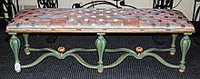 Italian Painted and Giltwood Bench