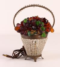 Bohemian or Austrian Glass Fruit Basket