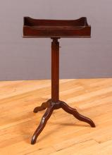 Antique English Adjustable Occasional Candlestand Table