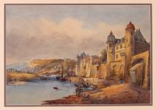 British or Continental School Watercolor