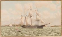Barkentine in New York Harbor, 19th Century