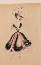 Vintage Fashion Costume Design Drawings