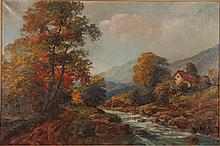 R. Eicher Landscape Painting of Country Brook