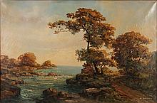 R. Eicher Landscape Painting of Rocky Shoals