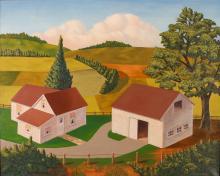 Francis Komperda ptg. Western Pa. Farm, Spring