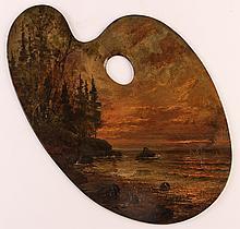 Martin Leisser painted artist's palette