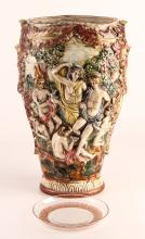Capodimonte Porcelain Urn and Lalique Glass Plate