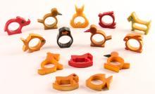 Assortment of Bakelite Whimsical Animals Napkin Rings
