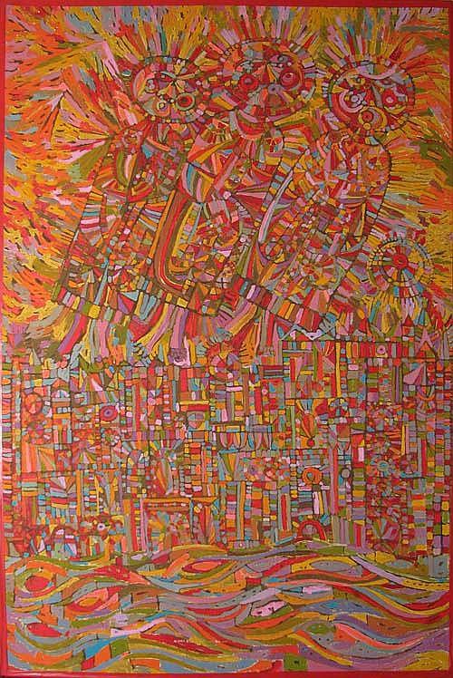 Ruth Strick Three Angels painting