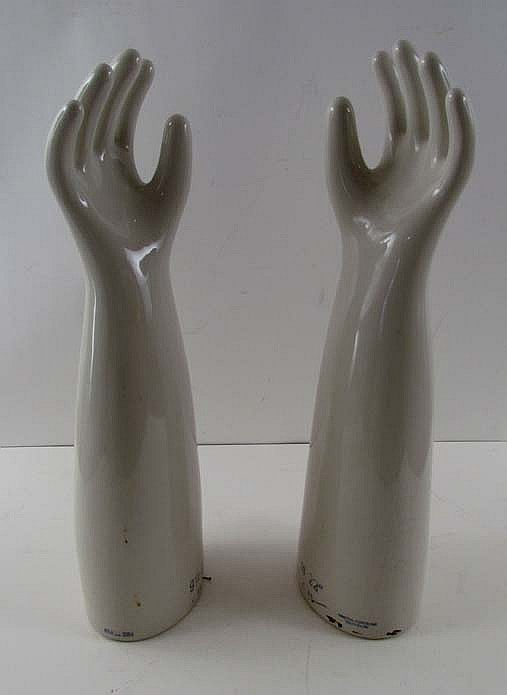 Pair of General Porcelain Glove Display Hands