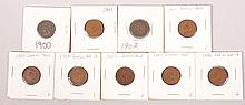 1900-1908 Indian Head Pennies 1 per yr