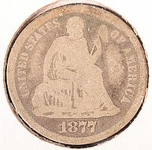 1877 CC Seated Dime