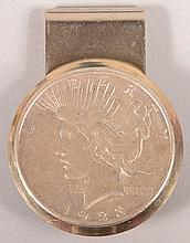 1923 Peace Dollar Money Clip