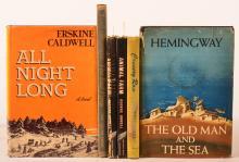 A lot of 6 novels including:  Hemmingway