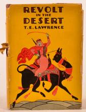Lawrence, T.E Revolt in the Desert. NY 1927. Stated 1st US ed. Worn dj.