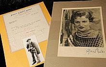 Signed photograph of Gracie Fields & a selection of 1920s-1940s autographs
